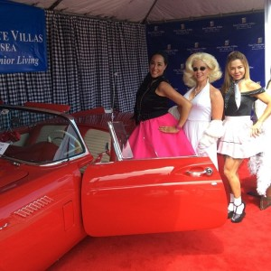 Aileen and Friends at the annual San Clemente Car Show