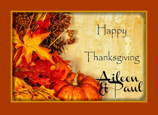 Happy Thanksgiving Aileen Brazeau