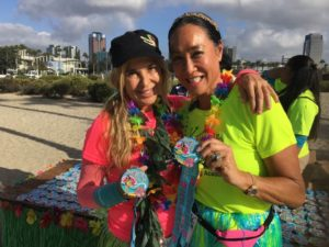 Aloha RUn long Beach 2016, run for Honor Flight for veterans, Aileen Brazeau runs for charity