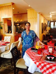 aileen brazeau dinner party for family and friends